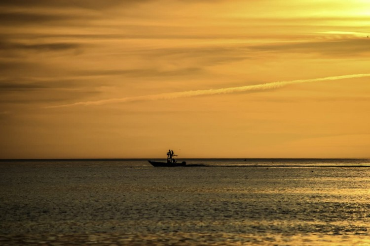 Fishing at sunset off Boca Grande.